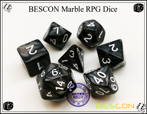 BESCON Marble RPG Dice Set-10