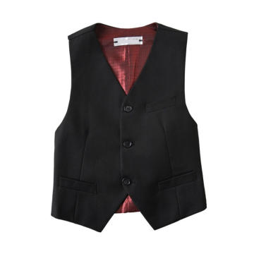 Boys' Solid Black Basic Vests