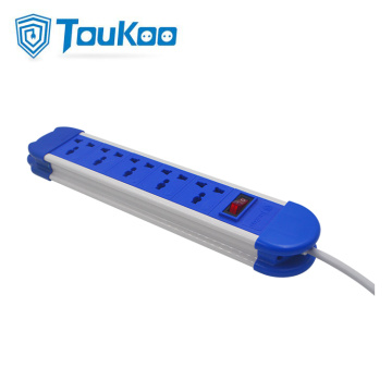 universal 5 way power strip extension cord