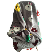 Cheap Animal Coloured Airline Coral Fleece Blankets Throw