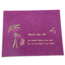 Outdoor used Embroidery mat with PVC backing
