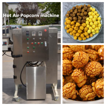 Hot air popcorn machines for industrial use