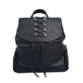 Soft Leather Backpack Black Travelling Girls Fancy Pack