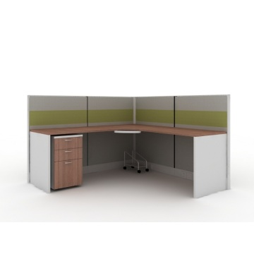 3 Seats Office Workstations Modular Office Furniture