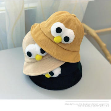 Foldable polar fleece baby bucket beanie winter hats