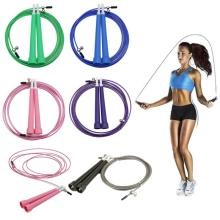1pcs Skipping Rope Adjustable Nylon Jumping Rope Speed Skipping Rope Fitness Speed Rope Home Gym Crossfit Fitness Equipment New
