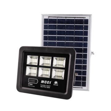 Energy-saving solar flood light with motion sensor