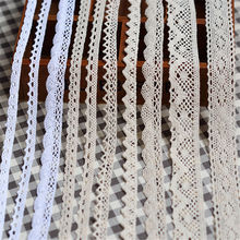 5 Yard Cotton Crochet Lace Trim Fabric Ribbon Sewing Handmade Craft Tatt Ivory DIY Craft Supplies Accessories Vintage
