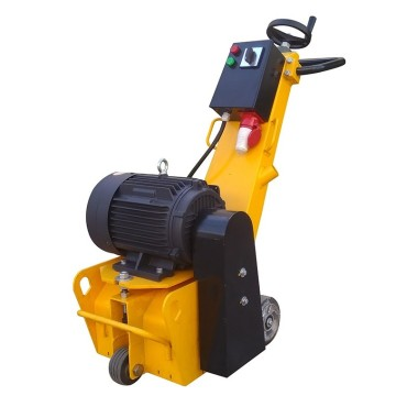 Portable concrete milling machine with electric motor