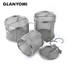 Stainless Steel Seasoning Bag Gravy Soup Taste Spice Box Basket Brine Hot Pot Slag Separation Colander Strainers Cooking Tools
