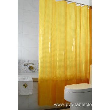 3D EVA Shower Curtain Grey and White