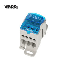 Din Rail Terminal Block Junction Box UKK80A One in several out Power Distribution Block Box Universal Electric Wire Connector