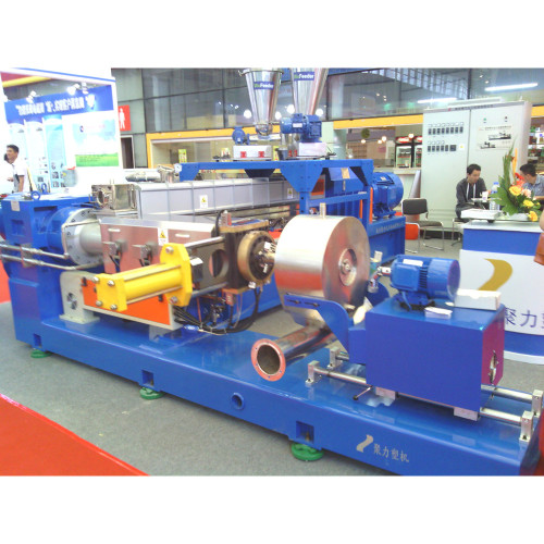 Two stage extruder pelletizing machine
