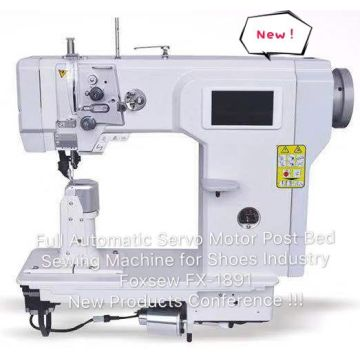 Fully Automatic Post Bed Sewing Machine with Servo Motor