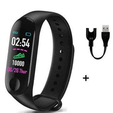M3plus smart bracelet heart rate pedometer call reminder message push Neutral Silica gel Waterproof Sleep monitoring