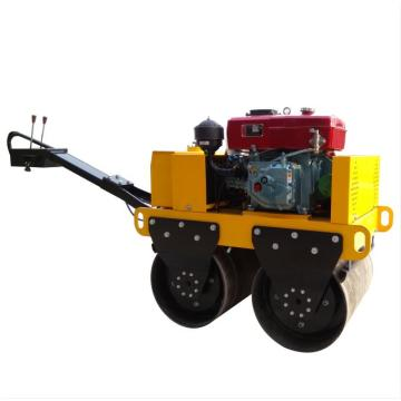 Hand push double drum vibratory road roller price
