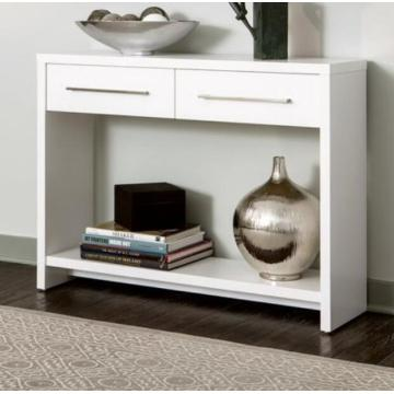 White Entryway Console Table with Drawers