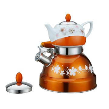 Double Whistling Kettle with Ceramic Pot