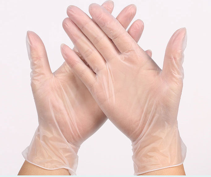 transparent vinyl glove
