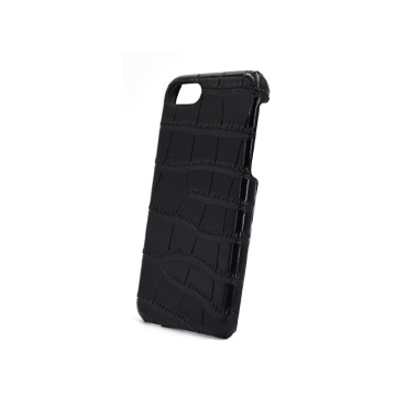 Black Crocodile Leather Phone Case for Iphone 7/8