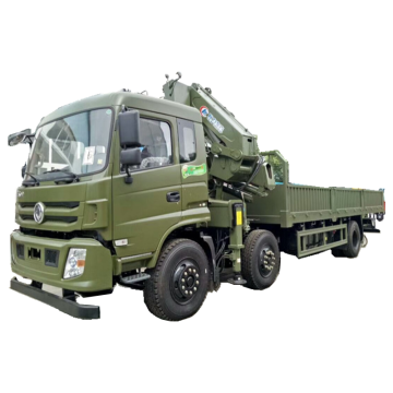 Dongfeng 6X2 Truck Mounted Articulated Boom Crane 12tons