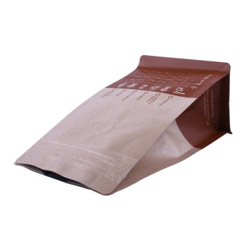 Kraft paper zipper bag for coffee packaging