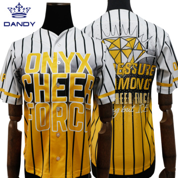 Crystal Cheerleaders Baseball Jerseys