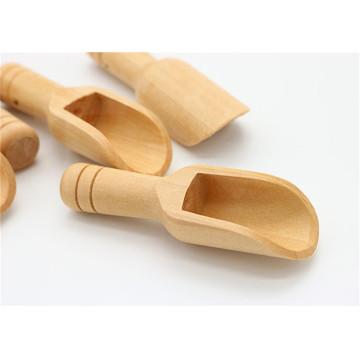 Mini Wooden Scoops Bath Salt Spoon Candy Flour Spoon Scoops Kitchen Tools 2019