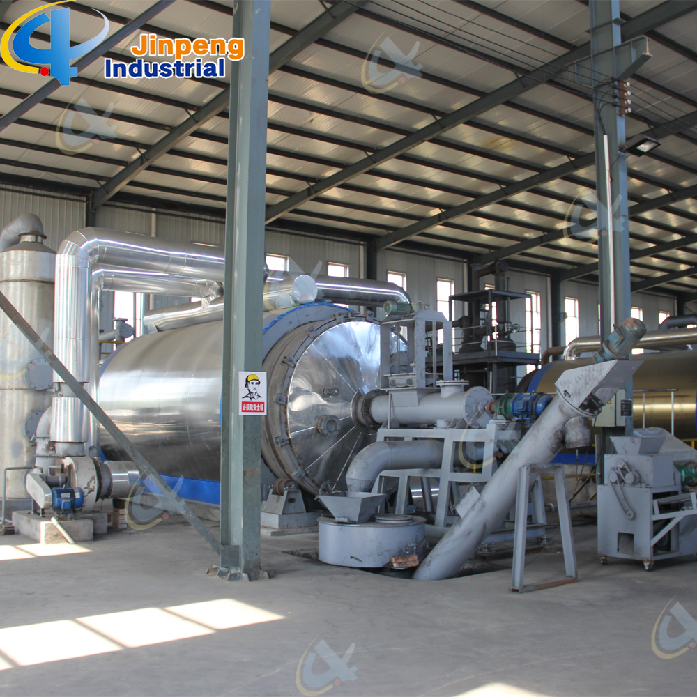Batch tire plastic pyrolysis machine