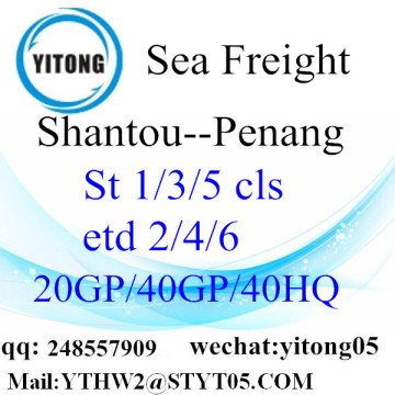 Shantou Sea Freight to Penang