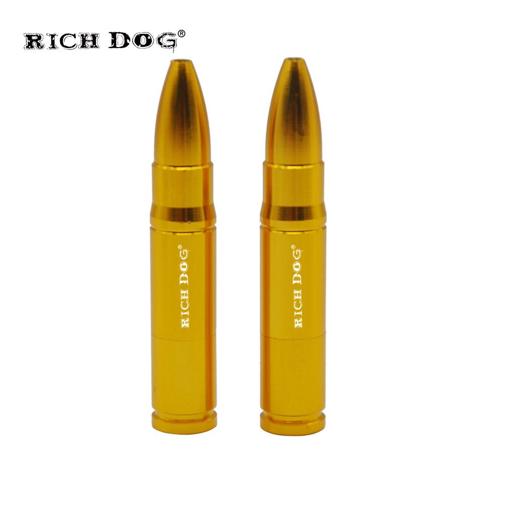 Rich Gog Metal Smoking Pipe Medium Bullet Shape Aluminum Smoking Tobacco Pipa Portable Pipes For Smoking Herb Bullet metal pipe