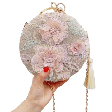 Evening Dress Bag Embroidery Patch Wedding Handbag