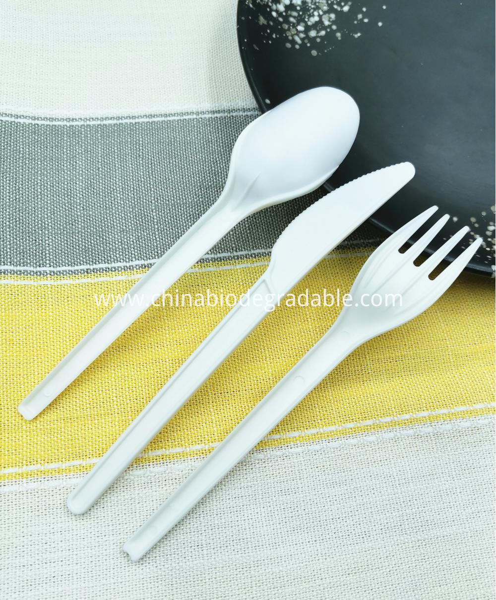 100% Biodegradable Cutlery Forks Knifes Spoons