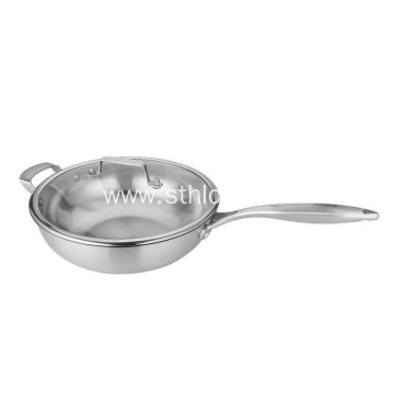 Healthy Non Stick Wok Stainless Steel Pot
