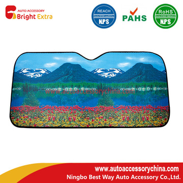 Printed Metallic Reflective Car Sun Shade