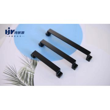 HJY simple design furniture hardware black cabinet handle pulls