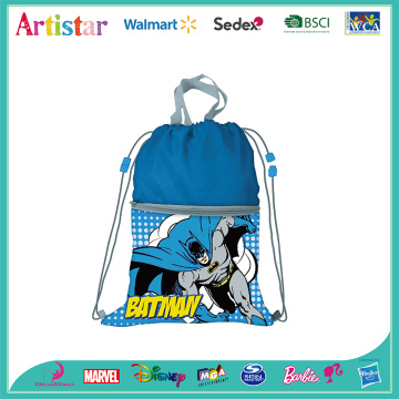 DC BATMAN blue drawstring bag
