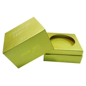 Gold Metallic Paper Packaging Box for Home Candle