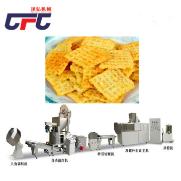 Fried flour puffing machine production line