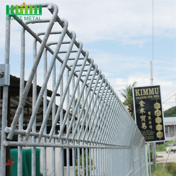 Used Galvanized Steel Roll Top Fence Panels