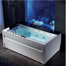 Indoor Portable Massage Acrylic Waterfall Bathtub