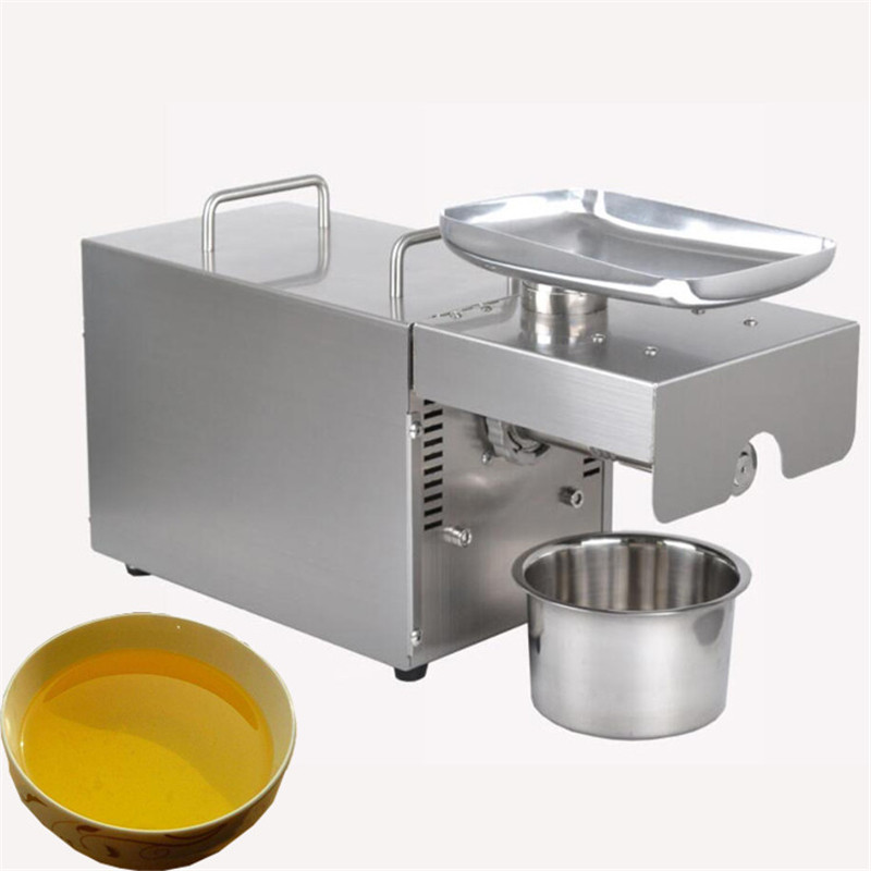 JamieLin Cold Press Almond/ Soybean/ Peanut Oil Press Machine Electric Sunflower Seeds Oil Extractor Making Price