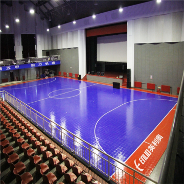 Plastic flooring for indoor soccer futsal