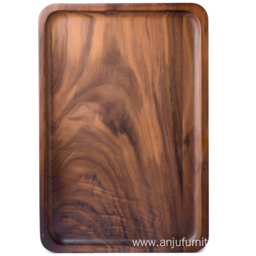 Wood Rectangular Serving Trays, Medium, Black Walnut, 13.4 x 9 Inches: Serving Trays