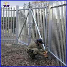 D Section Powder Coated Palisade Fence