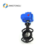 "JKTLED002 electric actuator cast iron 3/4"" butterfly valve"