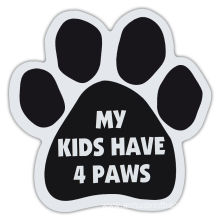 Custom Outdoor Car Sicker Paw Print Magnet