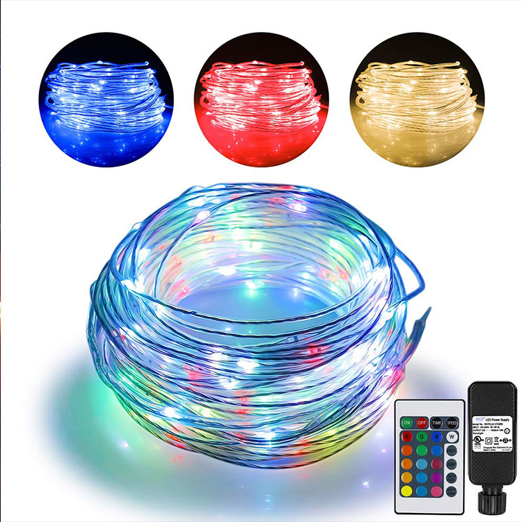 100m warm white festival led rope light