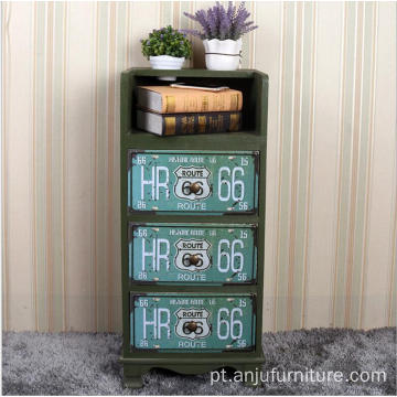 Antique Cabinet green color Night Stand Beauty salon tool cabinet