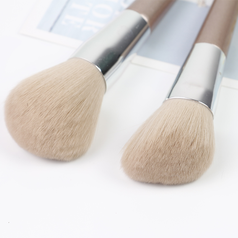 makeup brush set rose gold